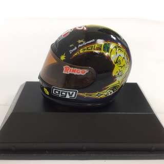 🚚 正品 安全帽模型組 7-11 瓦倫蒂諾.羅西 VALENTINO ROSSI GP 125 1997