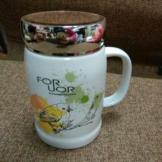 🚚 春漾覆蓋陶瓷杯
