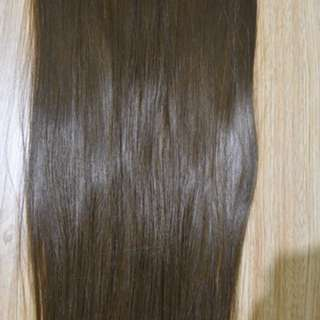 Clip on straight Synthetic hair extension long