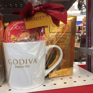 加拿大代購 Godiva Mug, Coffee, chocolate set