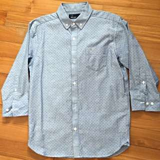 Fred Perry Japan 3quarter Sleeve Shirt Size S