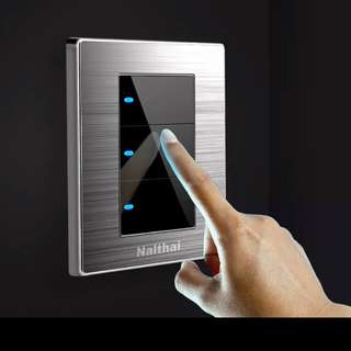 Soft touch wall switch