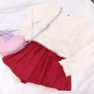 GRL正品 lena著用款 QQ貴賓毛寬鬆上衣針織衫