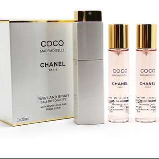 Coco Chanel Mademoiselle refillable perfume