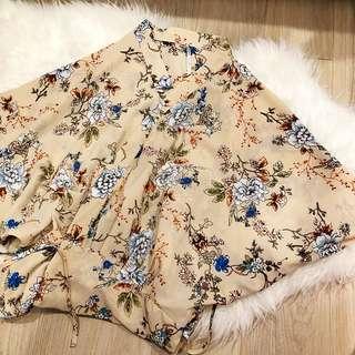 日系 和服 大褂 印花 長版 外套