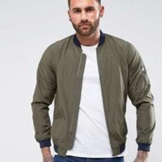 instock | pull & bear bomber jacket