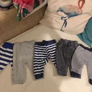 From UK bundleOf Baby Boys pants 3-6m
