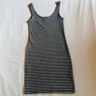 H&m bodycon striped dress