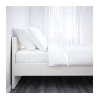 Ikea ASKVOLL Bed Frame, white with Luröy