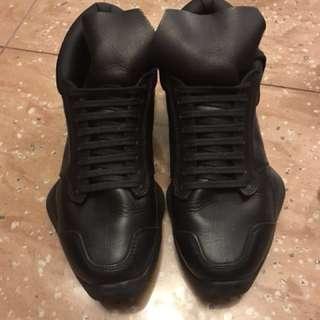 Rick Owens leather black shoes