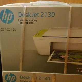 100%全新HP DeskJet 2130 multi function Printer