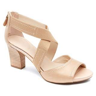 AUTHENTIC Rockport shoes women shoes seven to 7 Cross Strap Dress sandal Nude