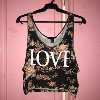 Forever 21 Floral Loose Tank Top