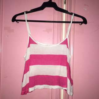 Forever 21 Striped Loose Tank Top
