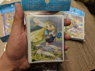 Pokemon Sleeves (Lillie, Ditto pikachu, Mimikyu)