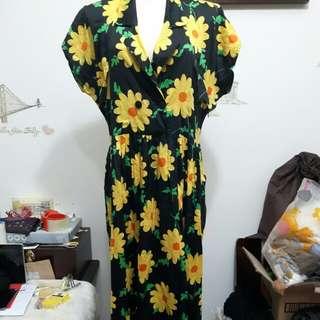 (古著)印花洋裝