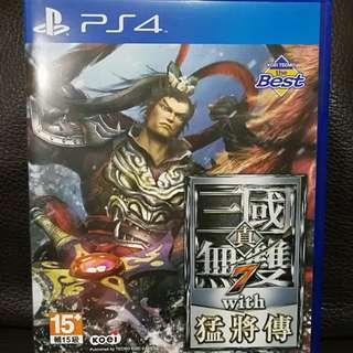 PS4 遊戲片~ 9成9新~ 三國無雙 猛將傳 7~