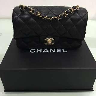 Authentic Chanel mini rectangular flap