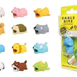 日本 Cable Bite 電話線保護套 iPhone充電線專用小飾品 Cable Bite萌獸手機線夾
