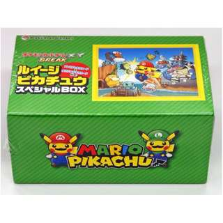 Pokemon TCG Super Mario Bros Pikachu Cosplay Luigi Box