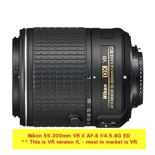 Nikon 55-200mm VR II AF-S f/4-5.6G ED