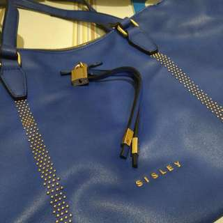 Authentic Sisley Blue Tote