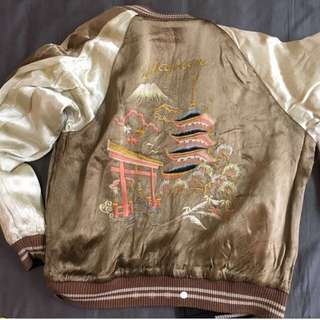 古著 橫須賀 刺繡外套 雙面刺繡 龍 虎