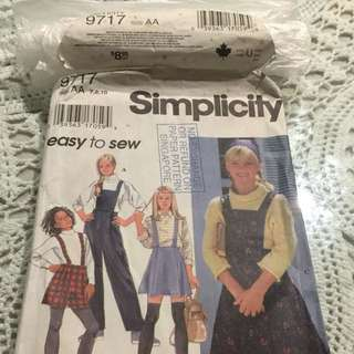 Simplicity Paper Patterns ( Size AA)
