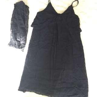 Vanessa Bruno 深藍色吊帶裙
