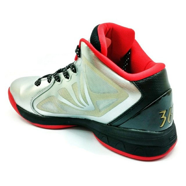836ef28e65b 361 Kevin Love Basketball Shoes Silver Red Sports Athletic