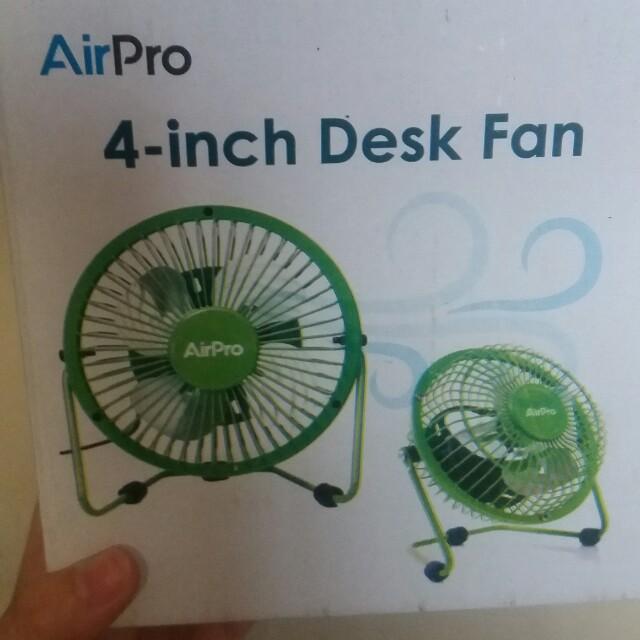 4 inch desk fan