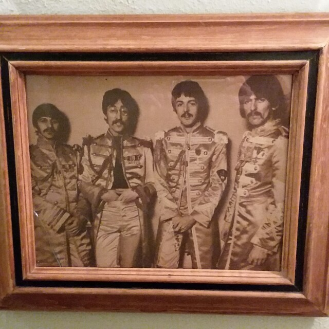 """8""""×10"""" Framed/Glassed Wall Picture of The Beatles"""