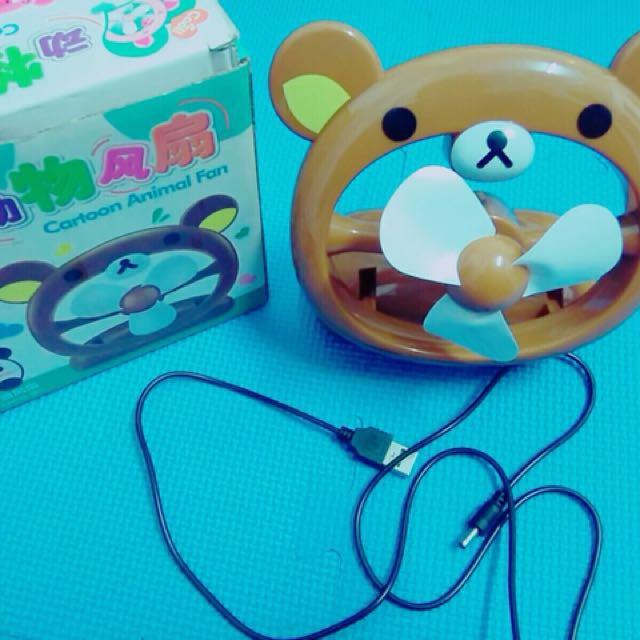 啦啦熊 懶懶熊  充電式電風扇 聖誕禮物