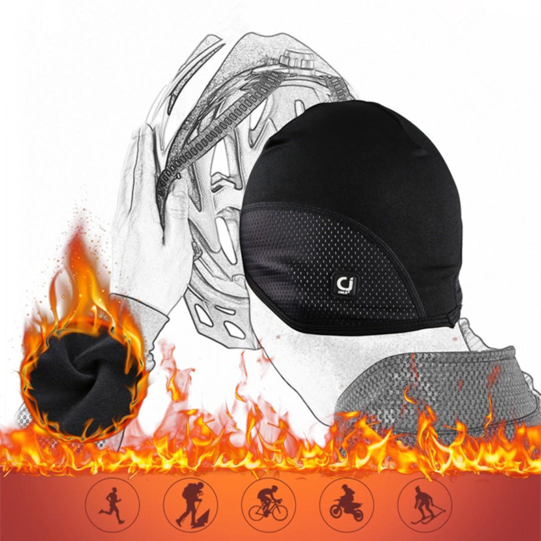 (全新) CHEJI 安全帽內襯帽 登山 單車 腳踏車 頭套 保暖抓絨 防水防風護耳
