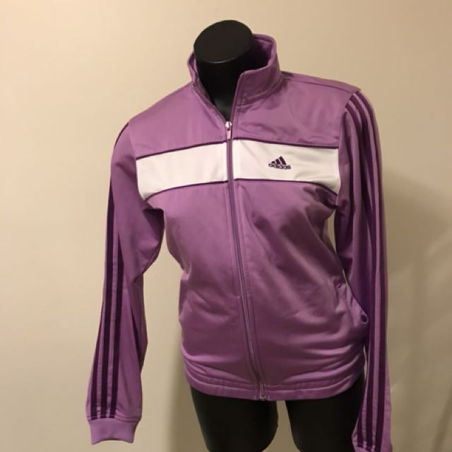 Adidas light purple jacket
