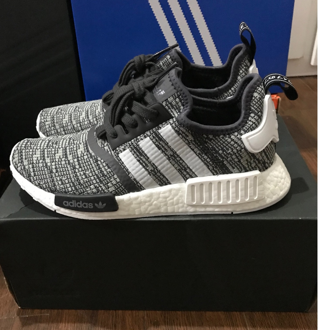 Adidas nmd r1 glitch grey donne, preloved di moda femminile, le scarpe