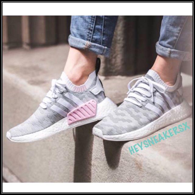 1b1e45ad1 Adidas NMD R2 Primeknit Grey Pink