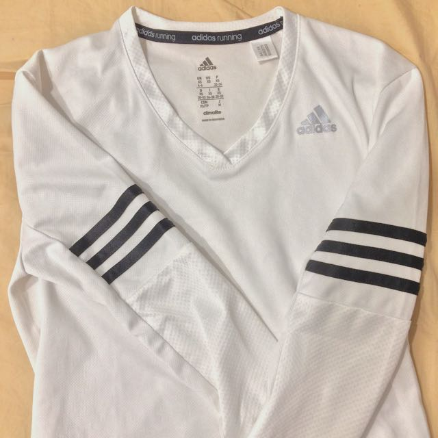 Adidas white long sleeve