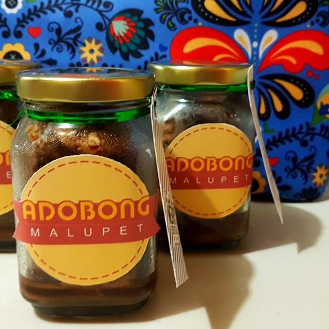 Adobong Malupet Chicken adobo in a jar