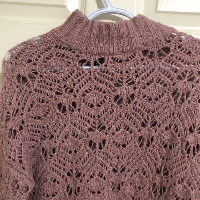 AE Dusty Rose Turtleneck Sweater