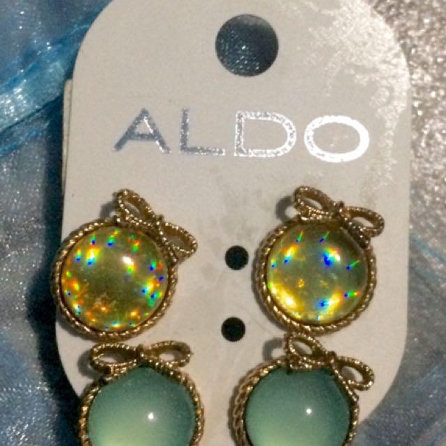 Aldo Button Earrings