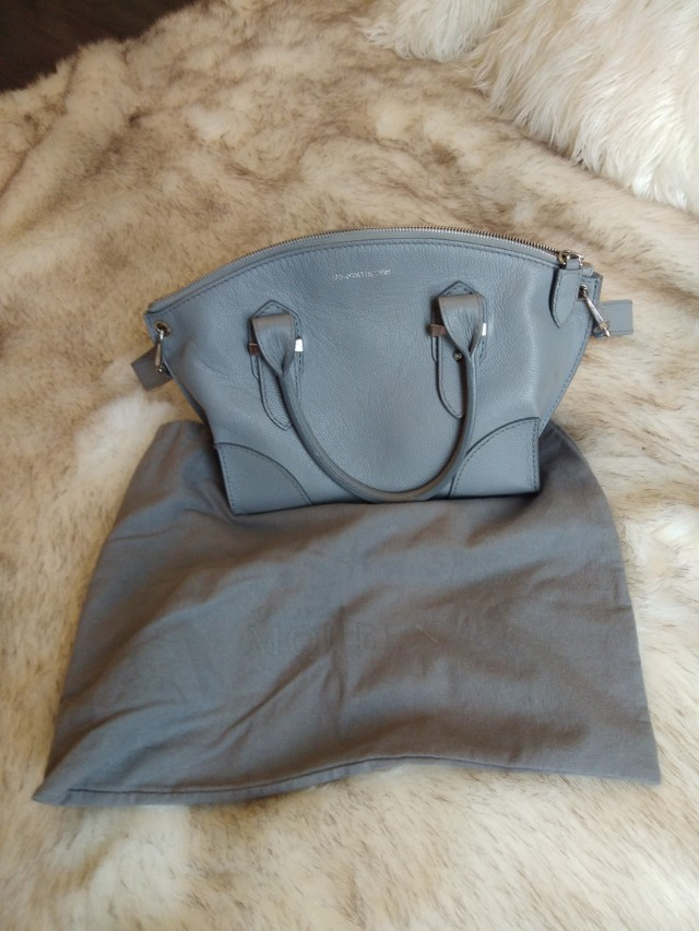 Alexander McQueen grey purse