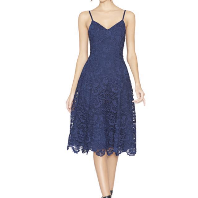 Alice and Olivia Blue Lace Dress