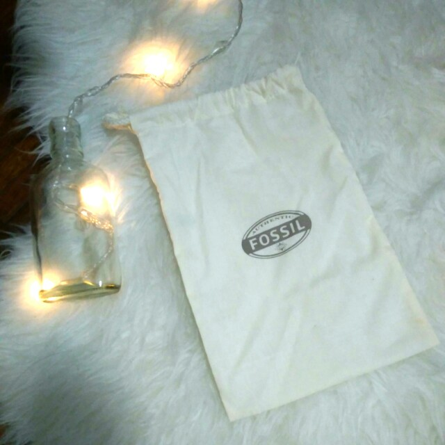 Authentic Fossil Wallet Dust Bag