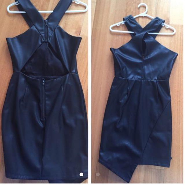 Bardot Leather Dress