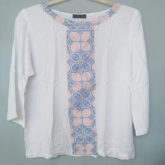 Batik Blouse White