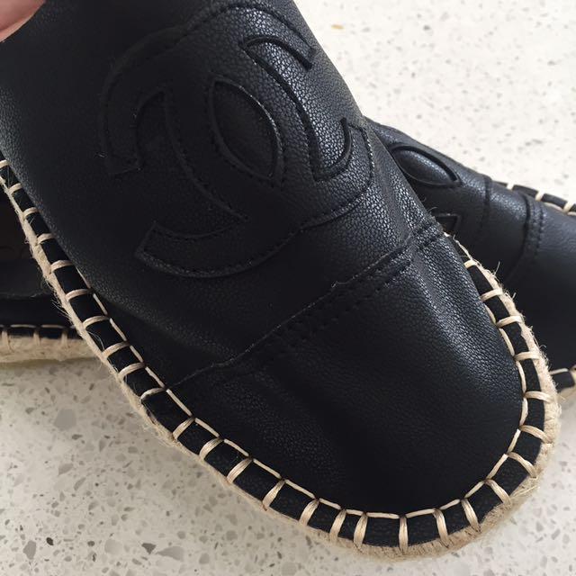 Black Espadrilles Size 40