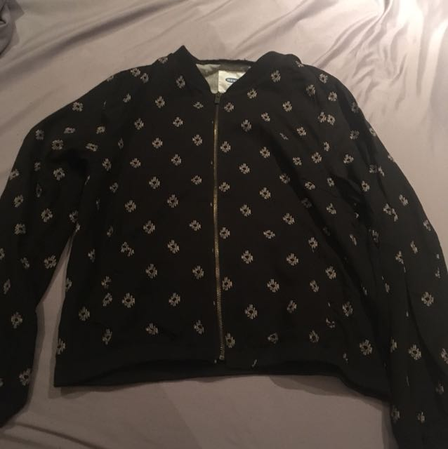 Black patterned jacket