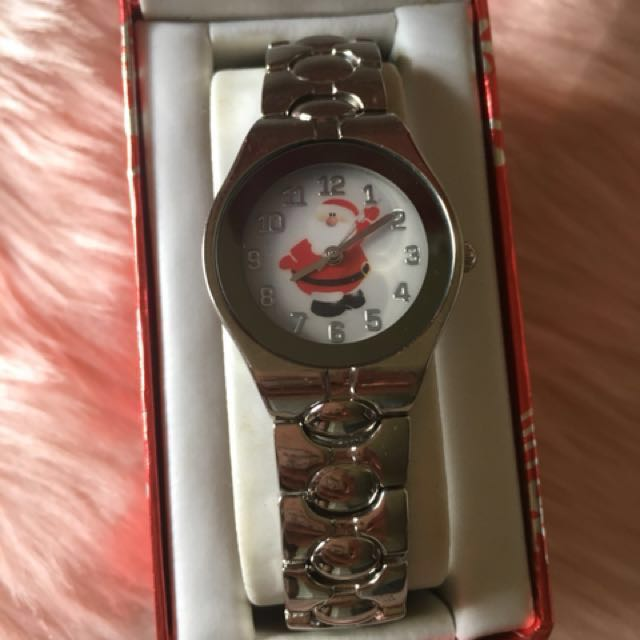 BNEW IMPORTED🇺🇸 Christmas Edition Stainless Silver Watch -Santa Claus ($19.99 retails)