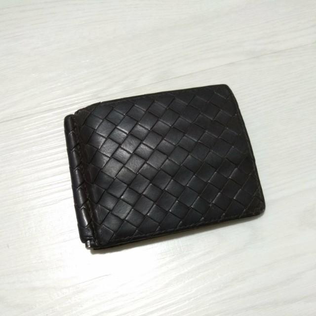Bottega Veneta Money Clip Wallet Brown